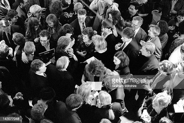 Singer and musician Paul McCartney and his wife Linda McCartney at the opening of her photographic exhibition entitled 'The Sixties' at the Royal...