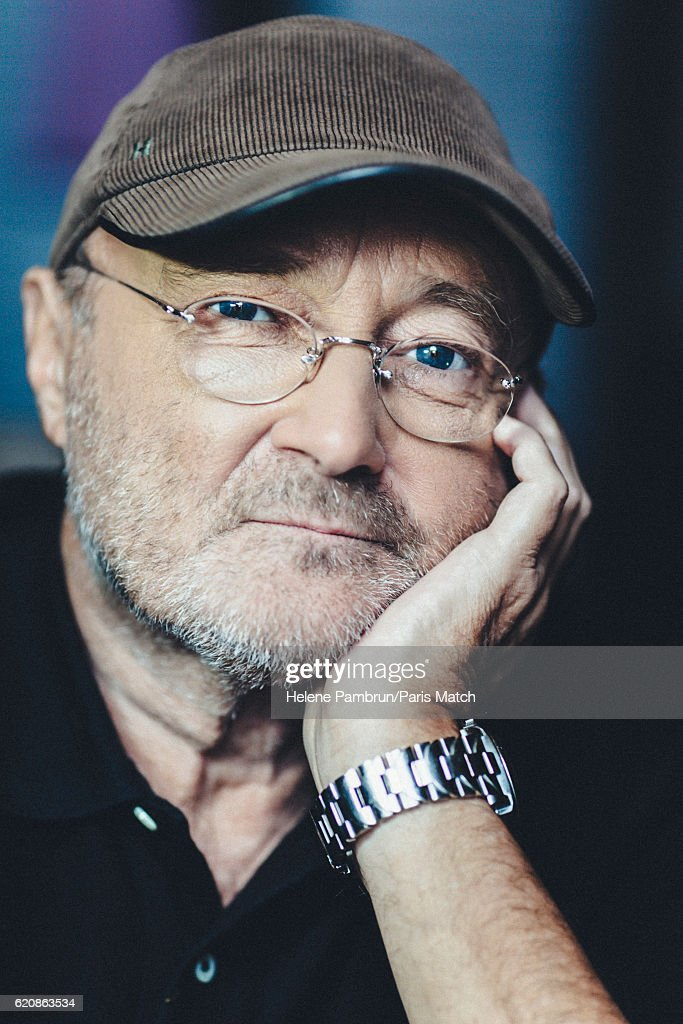 Singer and musician Phil Collins is photographed for Paris Match on October 17, 2016 in Paris, France.