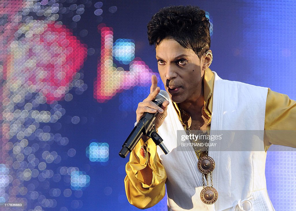 US singer and musician Prince performs on stage at the Stade de France in SaintDenis outside Paris on June 30 2011 AFP PHOTO BERTRAND GUAY