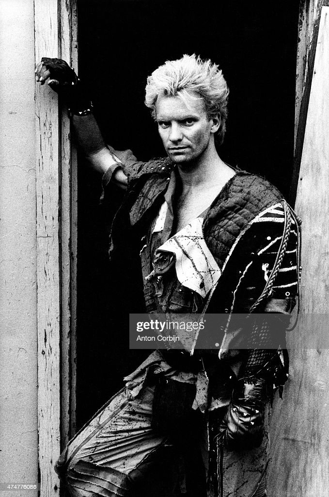 Singer and musician <a gi-track='captionPersonalityLinkClicked' href=/galleries/search?phrase=Sting+-+Singer&family=editorial&specificpeople=220192 ng-click='$event.stopPropagation()'>Sting</a> of pop band the Police is photographed for the NME on July 22, 1983 in London, England.