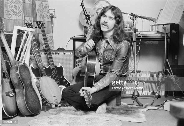 Singer and musician Tim Hart of electric folk band Steeleye Span April 1977