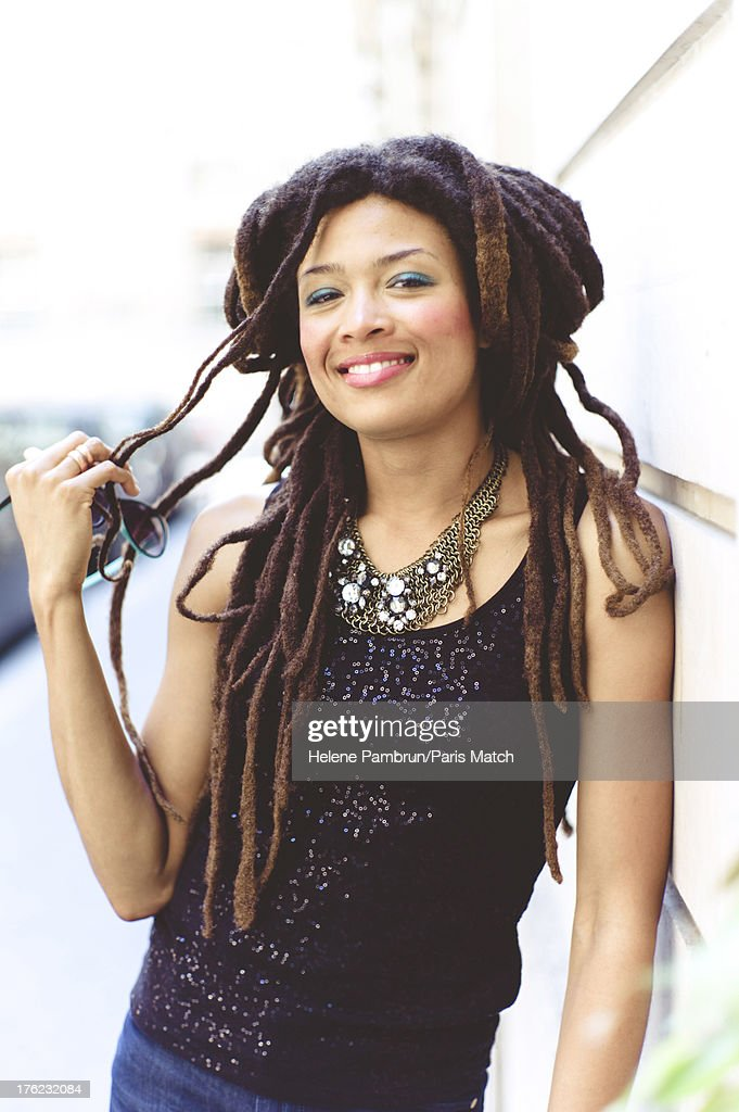 Singer and musician <a gi-track='captionPersonalityLinkClicked' href=/galleries/search?phrase=Valerie+June&family=editorial&specificpeople=5801252 ng-click='$event.stopPropagation()'>Valerie June</a> is photographed for Paris Match on July 9, 2013 in Paris, France.