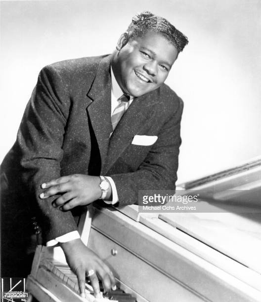 RB singer and pianist Fats Domino poses for a portrait circa 1956 in New York City New York
