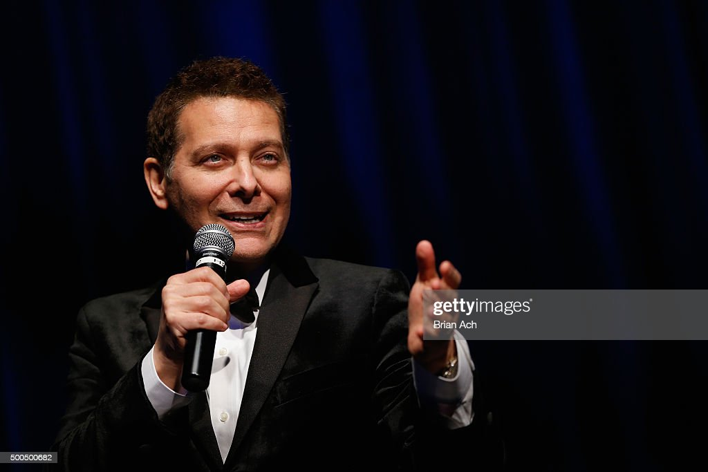 Singer and pianist Michael Feinstein performs at the Sinatra 100 Holiday Spectacular hosted By Tom Postilio & Mickey Conlon at The Edison Ballroom on December 8, 2015 in New York City.