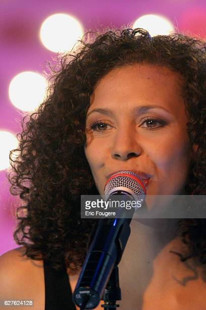 Singer and 'Popstars' jury member Angie appears on the television show 'Vivement Dimanche' whose featured guest is Michèle AlliotMarie the French...
