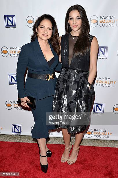 Singer and producer Gloria Estefan and actress and singer Ana Villafane attend Family Equality Council's 11th Annual Night at the Pier hosted by...