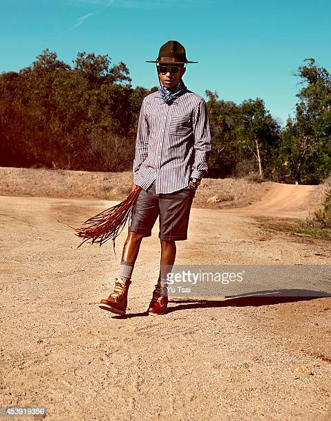Singer and producer Pharrell Williams for Notion on January 29 2014 in Los Angeles California PUBLISHED IMAGE