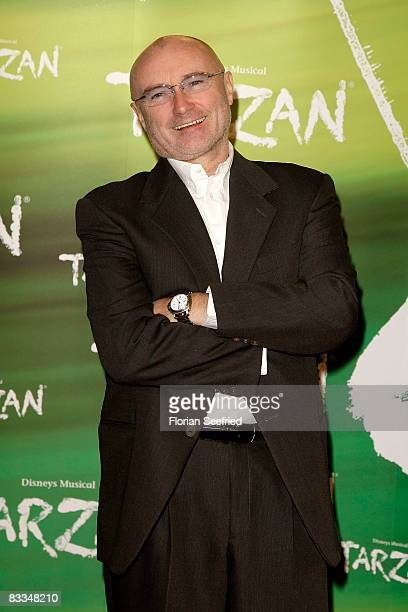 Singer and producer Phil Collins attends the German premiere of 'Tarzan Musical' at the New Flora on October 19 2008 in Hamburg Germany