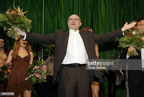 Singer and producer Phil Collins attends the German premiere of 'Tarzan Musical'at the New Flora on October 19 2008 in Hamburg Germany