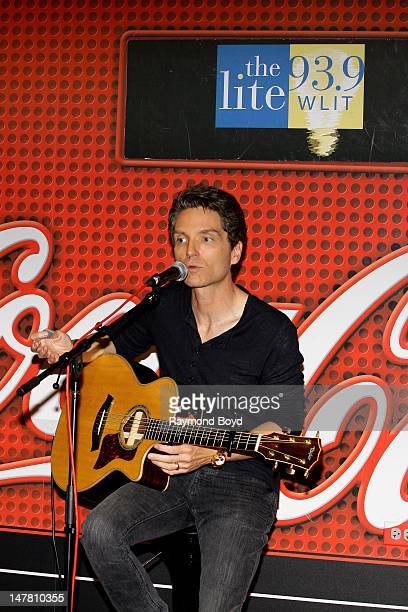 Singer and producer Richard Marx is interviewed in the WLITFM 'CocaCola Lounge' in Chicago Illinois on JUNE 21 2012