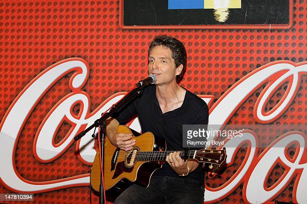 Singer and producer Richard Marx performs in the WLITFM 'CocaCola Lounge' in Chicago Illinois on JUNE 21 2012