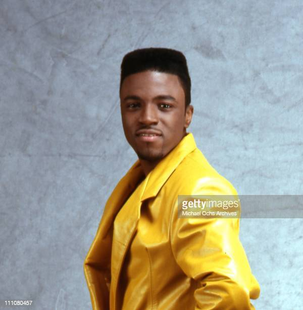 Singer and producer Teddy Riley of the R and B group 'Guy' poses for a portrait in 1987