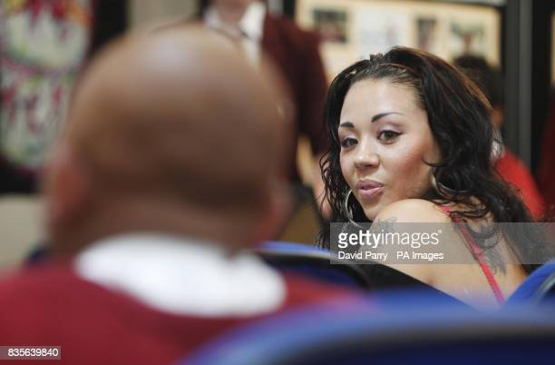 Singer and reality TV star Mutya Buena talks to pupils at Langdon School in East London about the importance of financial education for the launch My...