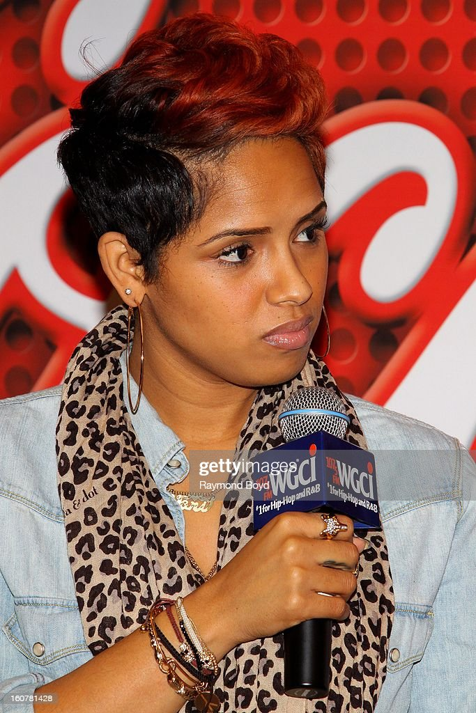 Singer and song writer RaVaughn, is interviewed in the WGCI-FM 'Coca-Cola Lounge' in Chicago, Illinois on FEBRUARY