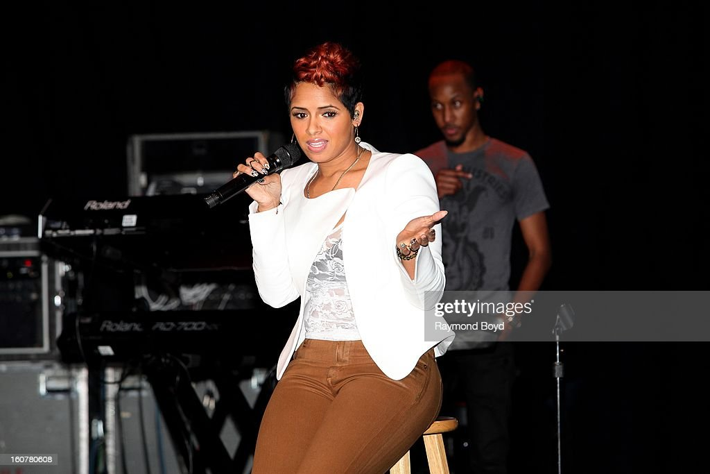 Singer and song writer RaVaughn, performs during 'The Experience With RaVaughn' at the DuSable Museum in Chicago, Illinois on FEBRUARY