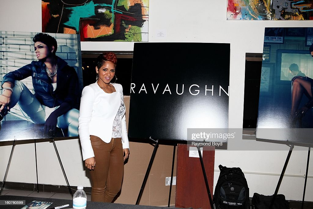 Singer and song writer RaVaughn, poses for photos during 'The Experience With RaVaughn' at the DuSable Museum in Chicago, Illinois on FEBRUARY