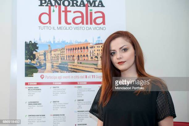 Singer and songwriter Annalisa during the event 'Panorama d'Italia' Padua Italy 10th June 2016