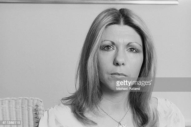 Singer and songwriter Annie Haslam of English progressive rock group Renaissance USA March 1978