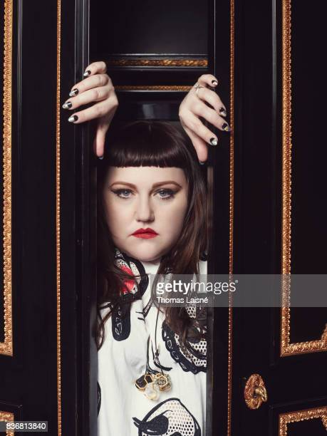 Singer and songwriter Beth Ditto is photographed for Technikart on April 3 2017 in Paris France