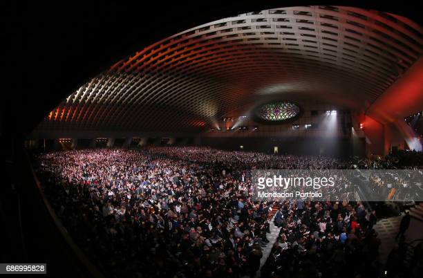 Singer and songwriter Claudio Baglioni during the Charity concert 'Avrai' in the Paul VI Audience Hall in favor of the Bangui Hospital and the...