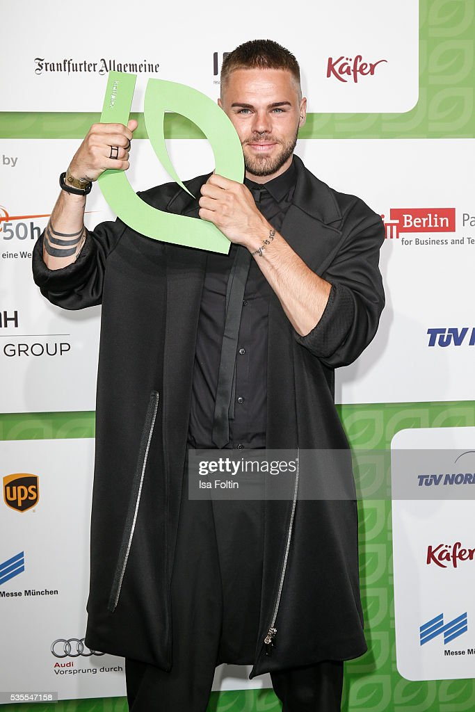 Singer and songwriter <a gi-track='captionPersonalityLinkClicked' href=/galleries/search?phrase=Daniel+Schuhmacher&family=editorial&specificpeople=5761970 ng-click='$event.stopPropagation()'>Daniel Schuhmacher</a> attends the Green Tec Award at ICM Munich on May 29, 2016 in Munich, Germany.