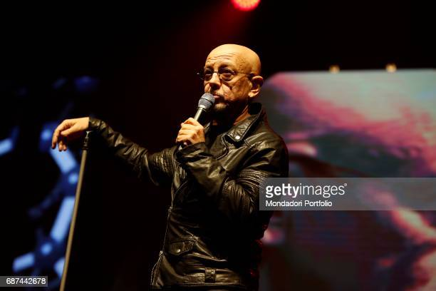 Singer and songwriter Enrico Ruggeri during the charity concert 'Uomini InCanto' to support the ANT association dedicated to the assistance of cancer...