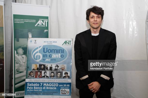 Singer and songwriter Ermal Meta during the charity concert 'Uomini InCanto' to support the ANT association dedicated to the assistance of cancer...