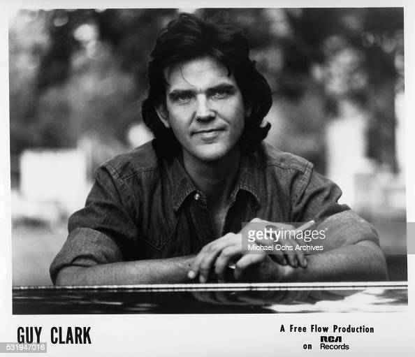 Singer and songwriter Guy Clark poses for an RCA publicity still circa 1977