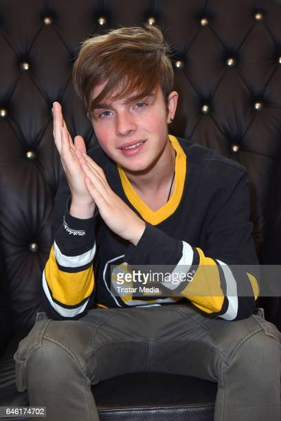 Singer and songwriter Mike Singer poses during a photo session on February 27 2017 in Hamburg Germany