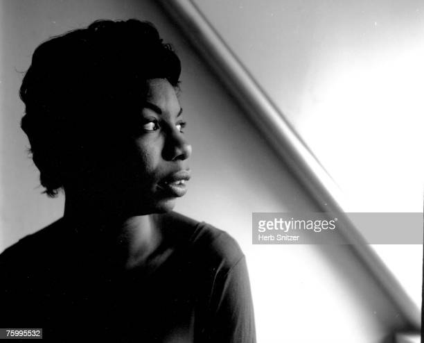 Singer and songwriter Nina Simone poses for a portrait in 1952 in New York City New York