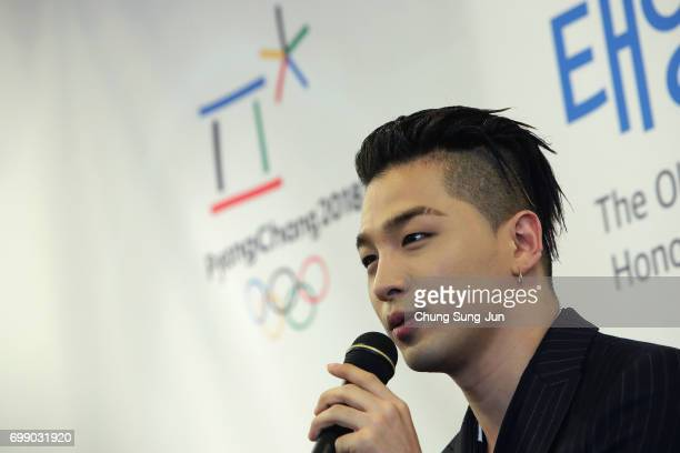 Singer and songwriter Taeyang of Big Bang attends the appointed honorary ambassador ceremony on June 21 2017 in Seoul South Korea The PyeongChang...