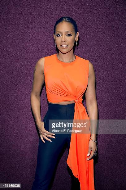 Singer and television personality Melanie Brown is photographed at the I Heart Awards for NBC on May 1 2014 in Los Angeles California