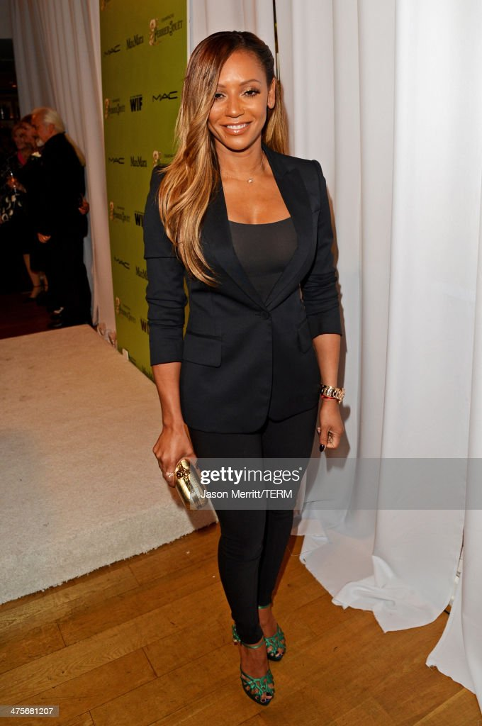 Singer and TV Personality <a gi-track='captionPersonalityLinkClicked' href=/galleries/search?phrase=Melanie+Brown&family=editorial&specificpeople=159736 ng-click='$event.stopPropagation()'>Melanie Brown</a> attends the Women In Film Pre-Oscar Cocktail Party presented by Perrier-Jouet, MAC Cosmetics & MaxMara at Fig & Olive Melrose Place on February 28, 2014 in West Hollywood, California.
