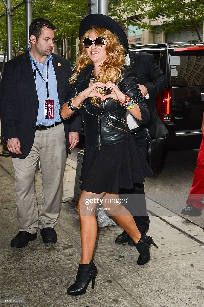 Singer and TV personality Paulina Rubio enters the 'Wendy Williams Show'' taping at the Chelsea Television Studios on October 22, 2013 in New York City.