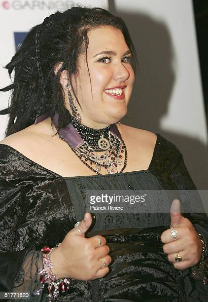 Singer and winner of the second Australian Idol Casey Donovan poses for the press at the Opera House November 21 2004 in Sydney Australia