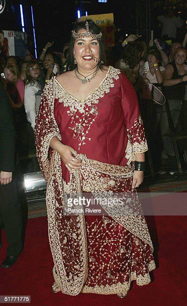 Singer and winner of the second Australian Idol Cassey Donovan arrives at the Opera House November 21 2004 in Sydney Australia