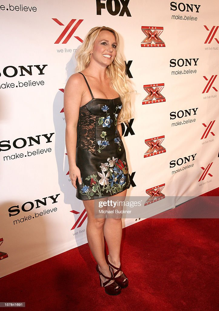 Singer and X Factor Judge <a gi-track='captionPersonalityLinkClicked' href=/galleries/search?phrase=Britney+Spears&family=editorial&specificpeople=156415 ng-click='$event.stopPropagation()'>Britney Spears</a> attends The X Factor Viewing Party Sponsored By Sony X Headphones at Mixology101 & Planet Dailies on December 6, 2012 in Los Angeles, United States.
