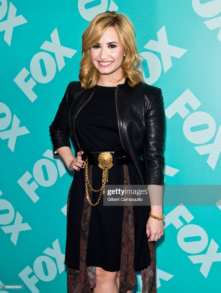 Singer and X Factor judge <a gi-track='captionPersonalityLinkClicked' href=/galleries/search?phrase=Demi+Lovato&family=editorial&specificpeople=4897002 ng-click='$event.stopPropagation()'>Demi Lovato</a> attends the FOX 2103 Programming Presentation Post-Party at Wollman Rink - Central Park on May 13, 2013 in New York City.