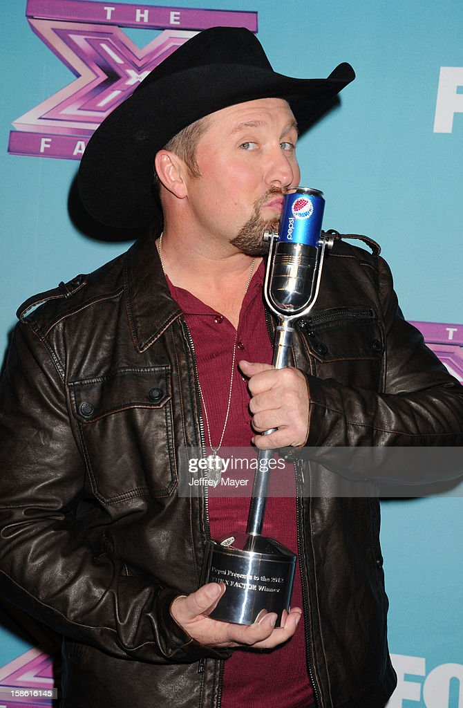 Singer and X-Factor Winner Tate Stevens attends the FOX's 'The X Factor' Season Finale - Night 2 at CBS Television City on December 20, 2012 in Los Angeles, California.