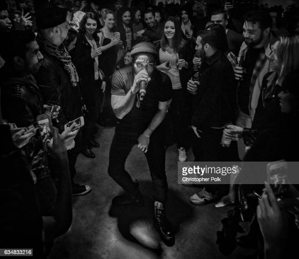 Singer Anderson Paak performs at Best New Artist GRAMMY nominee Anderson Paak The Free Nationals perform at the Masterpass #ThankTheFans House...