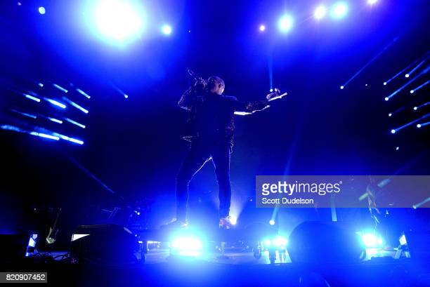 Singer Anderson Paak performs onstage during FYF Festival on July 21 2017 in Los Angeles California