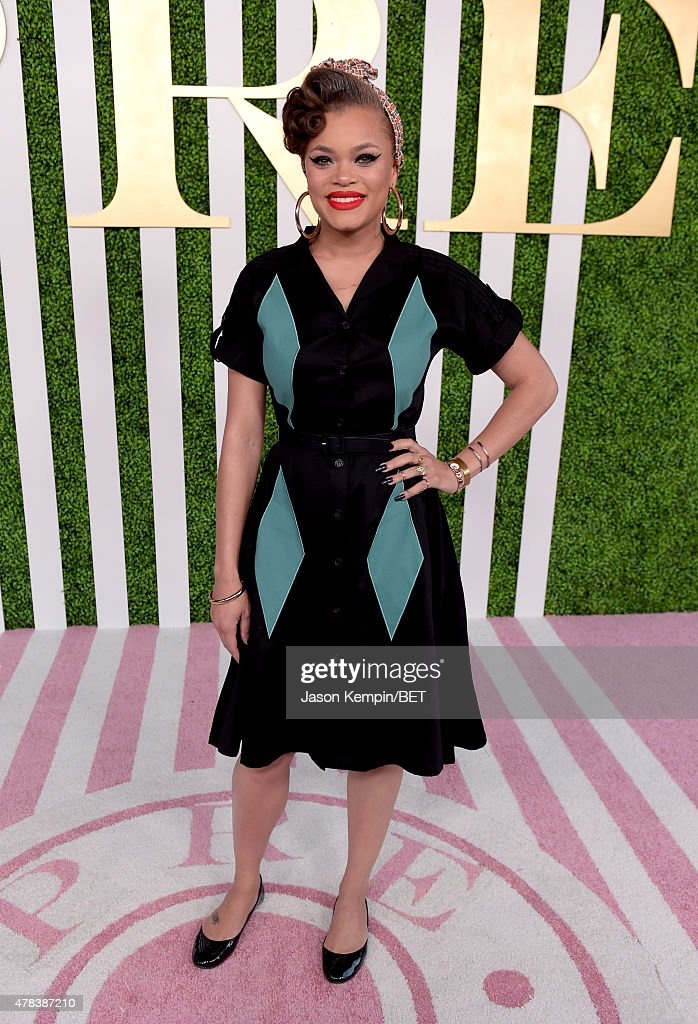 Singer Andra Day attends the 2015 BET Awards Debra Lee Pre-Dinner at Sunset Tower Hotel on June 24, 2015 in Los Angeles, California.