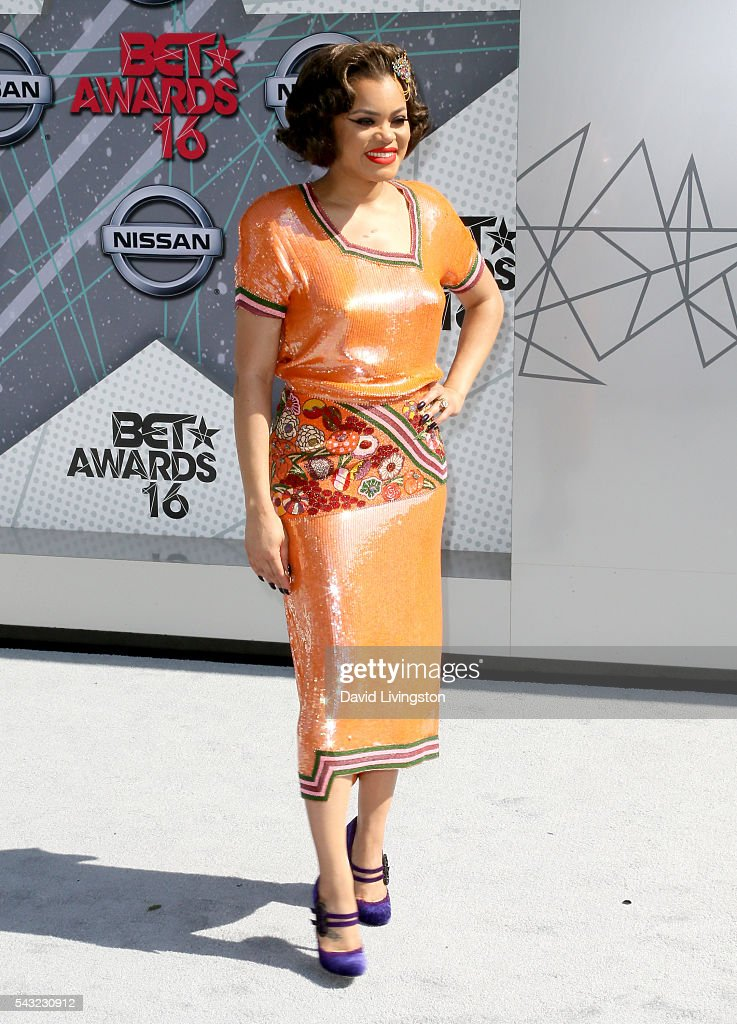Singer <a gi-track='captionPersonalityLinkClicked' href=/galleries/search?phrase=Andra+Day&family=editorial&specificpeople=10196811 ng-click='$event.stopPropagation()'>Andra Day</a> attends the 2016 BET Awards at Microsoft Theater on June 26, 2016 in Los Angeles, California.