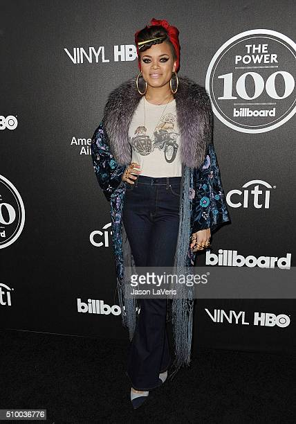 Singer Andra Day attends the 2016 Billboard Power 100 celebration at Bouchon on February 12 2016 in Beverly Hills California