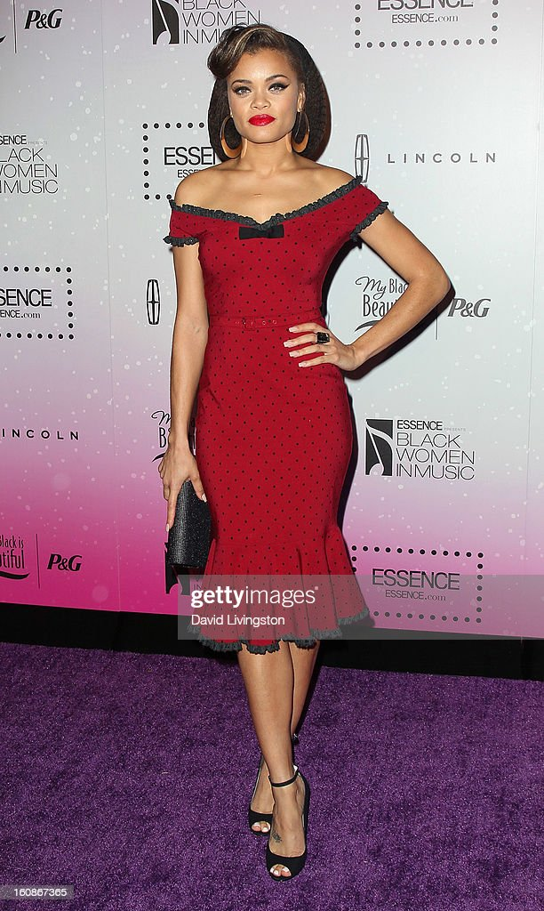 Singer Andra Day attends the 4th Annual ESSENCE Black Women In Music honoring Lianne La Havas and Solange Knowles at Greystone Manor Supperclub on February 6, 2013 in West Hollywood, California.