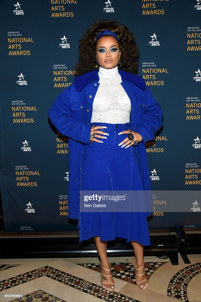 Singer Andra Day attends the National Arts Awards at Cipriani 42nd Street on October 23, 2017 in New York City.