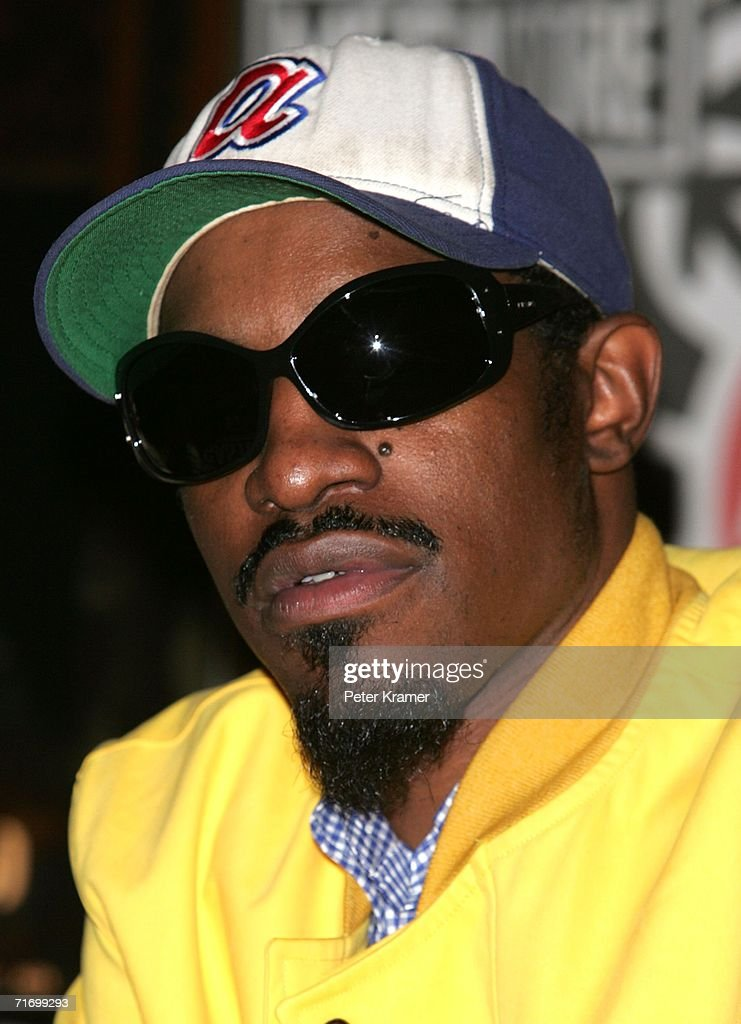 Singer Andre Benjamin of the music group Outkast makes an appearance at Virgin Megastore in Times Square to promote their new 'Idewild' CD August 22, 2006 in New York City.