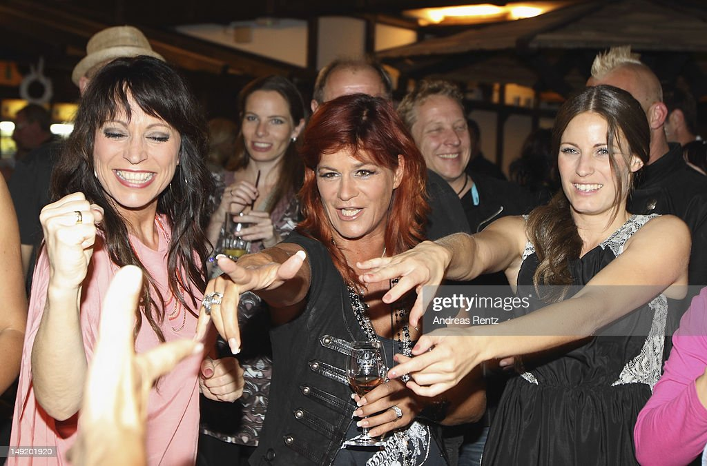 Singer Andrea Berg attends the after show party during the 'Abenteuer' tour at the comtech Arena on July 21 2012 in Aspach near Stuttgart Germany