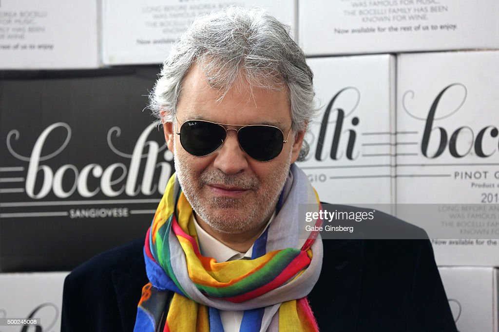 Singer <a gi-track='captionPersonalityLinkClicked' href=/galleries/search?phrase=Andrea+Bocelli&family=editorial&specificpeople=211558 ng-click='$event.stopPropagation()'>Andrea Bocelli</a> attends an unveiling of a life-sized statue of himself at the Cleveland Clinic Lou Ruvo Center for Brain Health on December 6, 2015 in Las Vegas, Nevada.