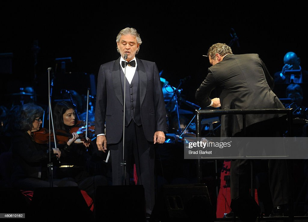 Andrea Bocelli In Concert New York Ny Getty Images